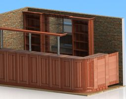 3D model bar furniture
