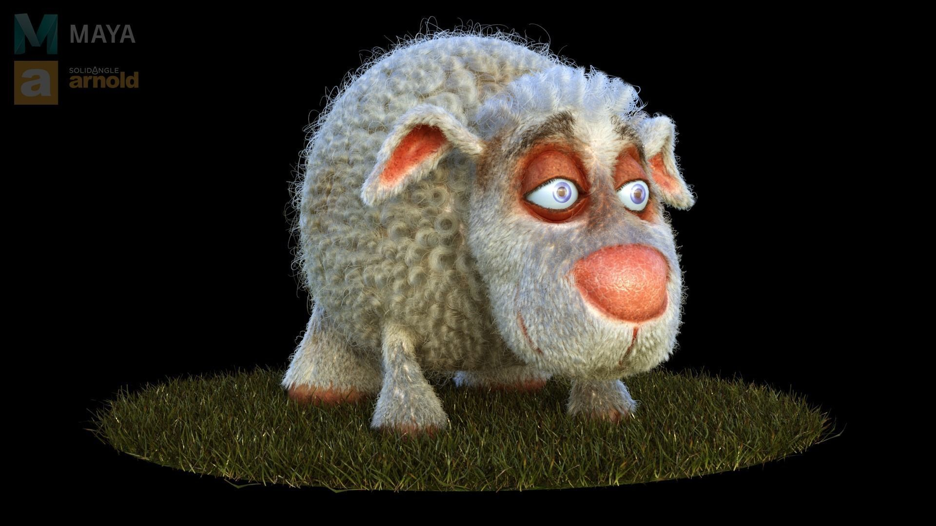 Sheep Dog for production render in Maya 2018 Arnold