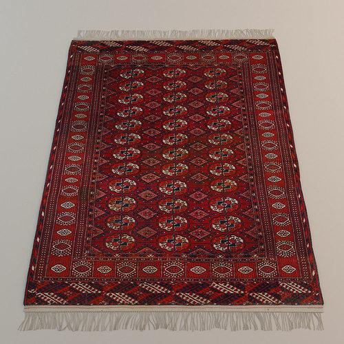 persian carpet 3d model max obj mtl fbx 1