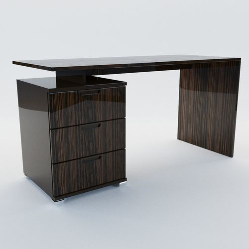 ladys writing desk art deco style 3d model cgtrader