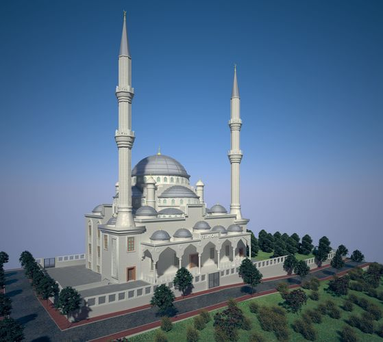 3d Model Classical Ottoman Empire Mosque Cgtrader