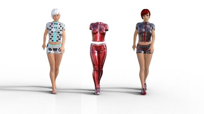 Line clothes - Genesis 3 female