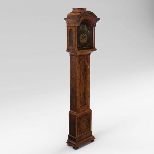 baroque long case clock - england - london 3d model max obj mtl fbx pdf 1