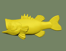 3D printable model Bass Fish Solid