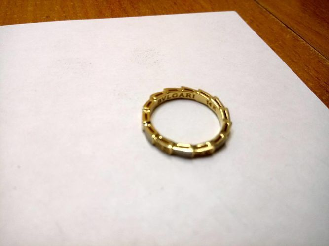 light ring with white pearl enamel and diamonds 3d model stl 3dm 1