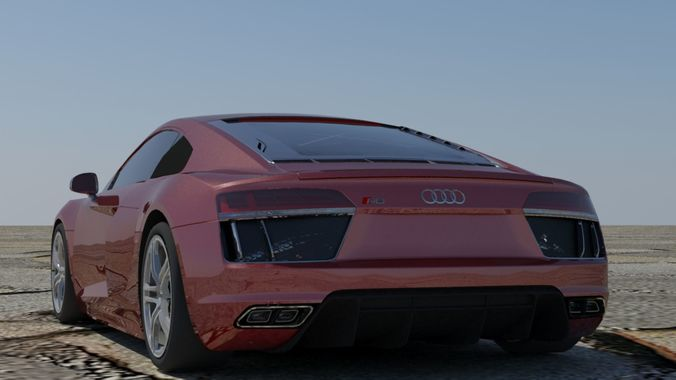 ... Audi R8 V10 Coupe 3d Model Low Poly Max Obj 3ds Fbx C4d Stl 3 ...