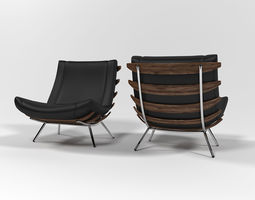 3D model 1801 Lounge chair by inDahouze design