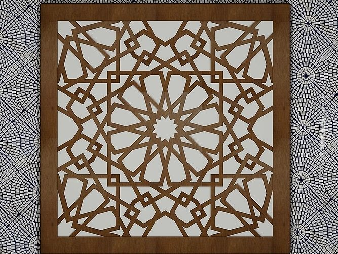 3d print model arabesque art cgtrader for Arabesque style decoration