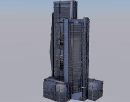 A HIGH-DETAILED SKYCRAPER 3D