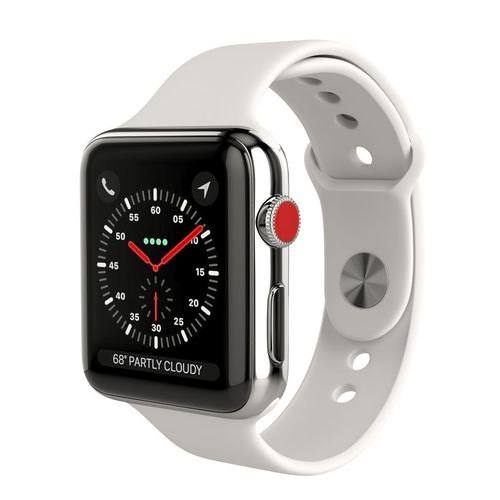 apple watch series 3 cellular 42mm stainless steel case 3d model max obj mtl 3ds fbx 1
