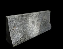 concrete block 3D model low-poly