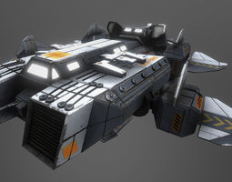 3D model XE-08 Recon and Transport Spacecraft