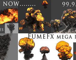 3D asset FumeFX Mega Pack