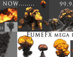 fumefx mega pack animated 3d asset VR / AR ready