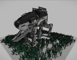 lowpoly robot 3D asset