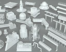 pipe 3D Factory Units-part-1 - 32 pieces