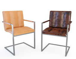 Chair 3D model chair leather