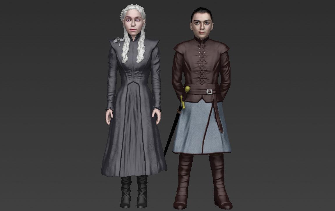 Game of Thrones pack Daenerys Arya full color 3D printing