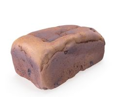 Malt Loaf - High and Low Poly 3D model VR / AR ready
