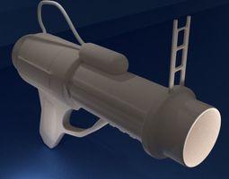 Grenade Launcher 3D model realtime