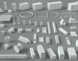 3D Construction Pack- 66 pieces industrial