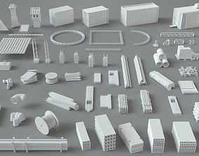3D Construction Pack- 66 pieces industrial