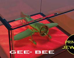 roaring Printable GeeBee pendant