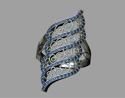 fashion Lace ring 3D printable model