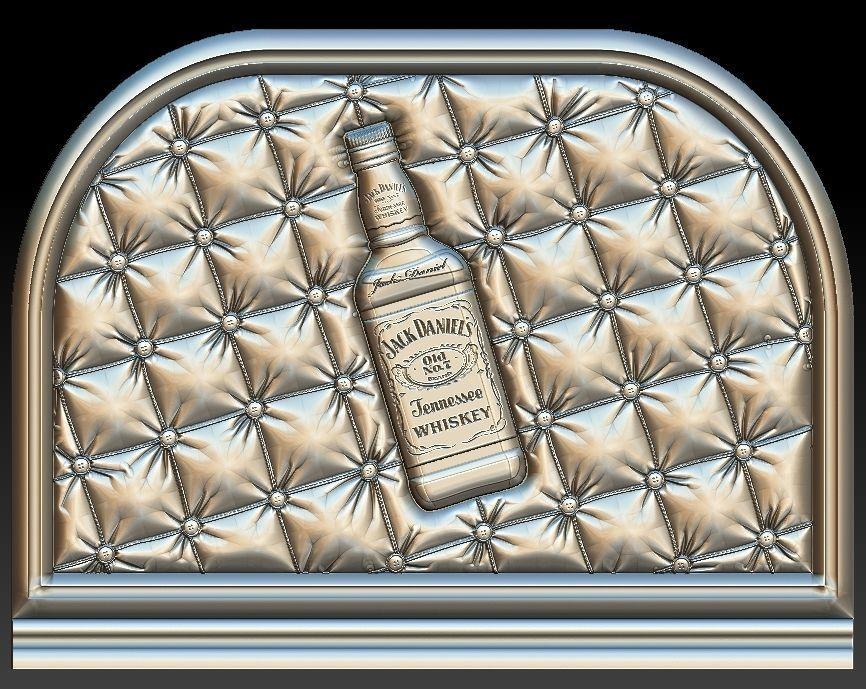 Jack Daniels headboard for CNC 3D Router