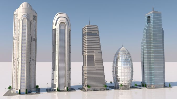futuristic skyscrapers | 3D model