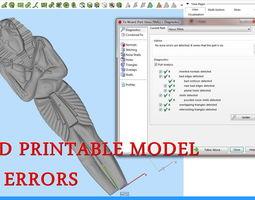 Set 4 Statues Egypt for CNC 3D Router