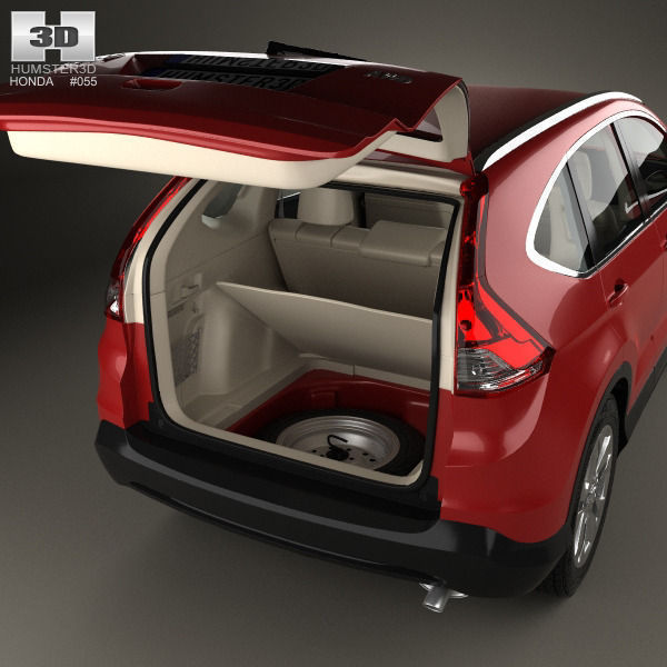 honda cr v eu with hq interior 2012 3d model max obj 3ds fbx c4d lwo lw lws. Black Bedroom Furniture Sets. Home Design Ideas