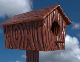 3D asset Cartoon Birdhouse