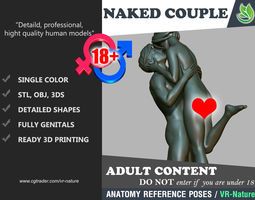 3D Couple of Lovers Printable 180226-01