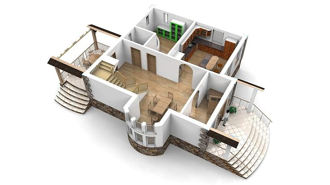 Model house interior pictures
