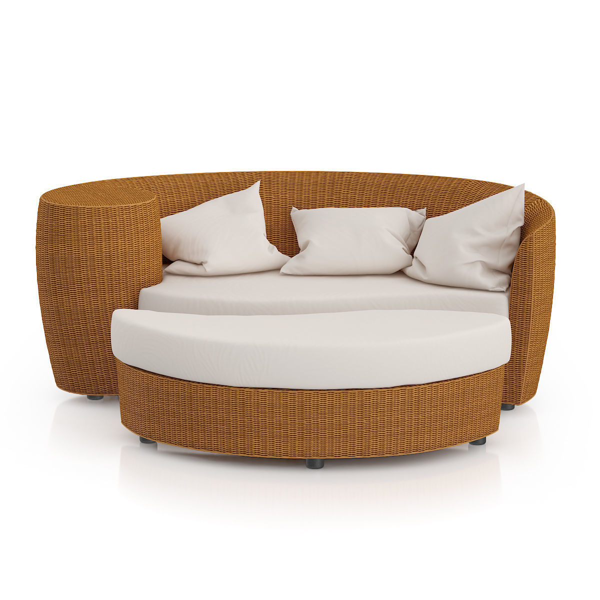 Wicker Sofa With Footrest Model