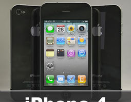 Apple iPhone 4 3D model camera