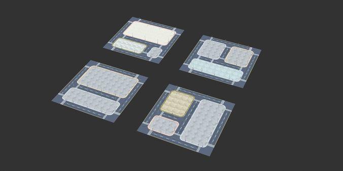 very practical  street block road  3d model max obj mtl fbx 1