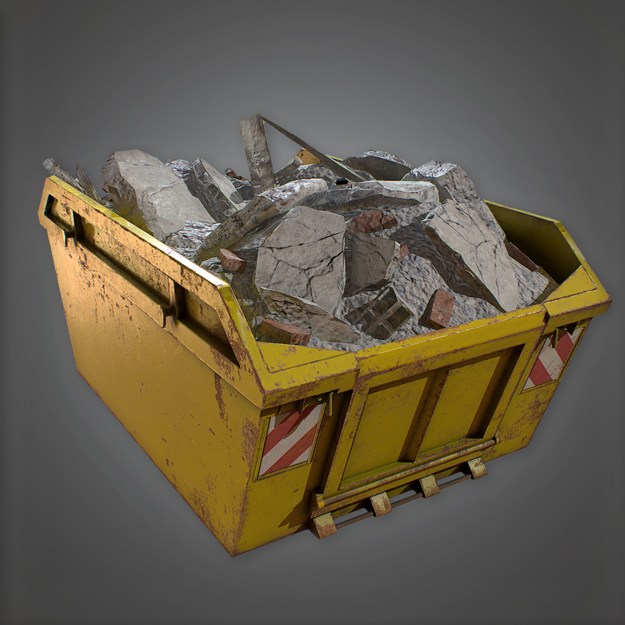CON - Dumpster - PBR Game Ready 3D model