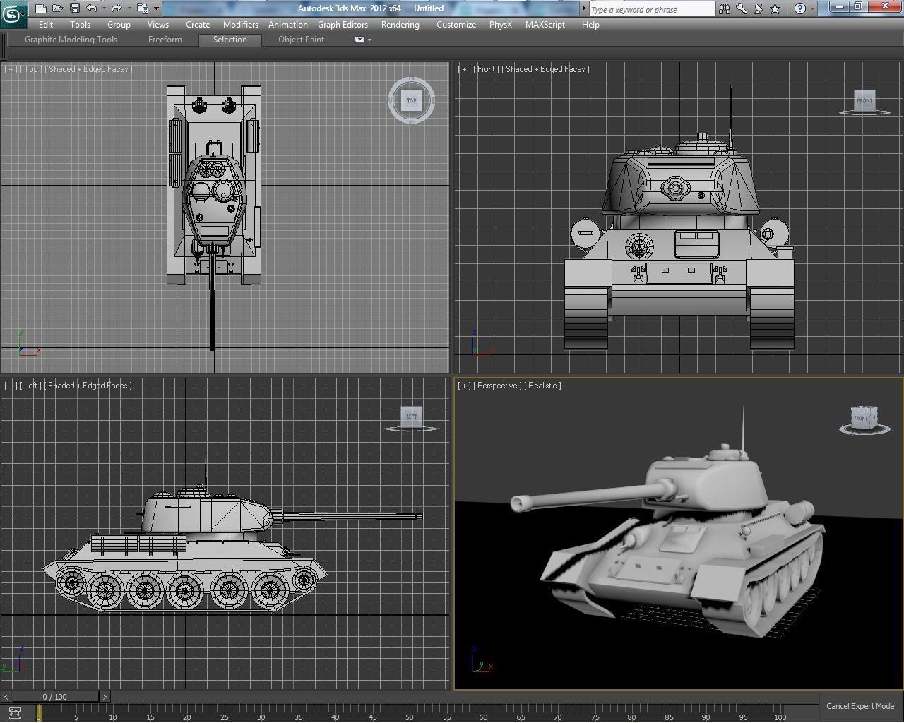 Tank T34-85