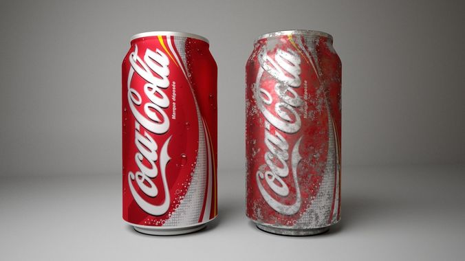 coca cola coke can  3d model low-poly obj mtl fbx ma mb tga 1