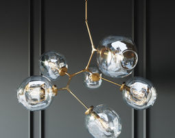 3D model BRANCHING BUBBLE 6 LAMPS GOLD BY LINDSEY ADELMAN