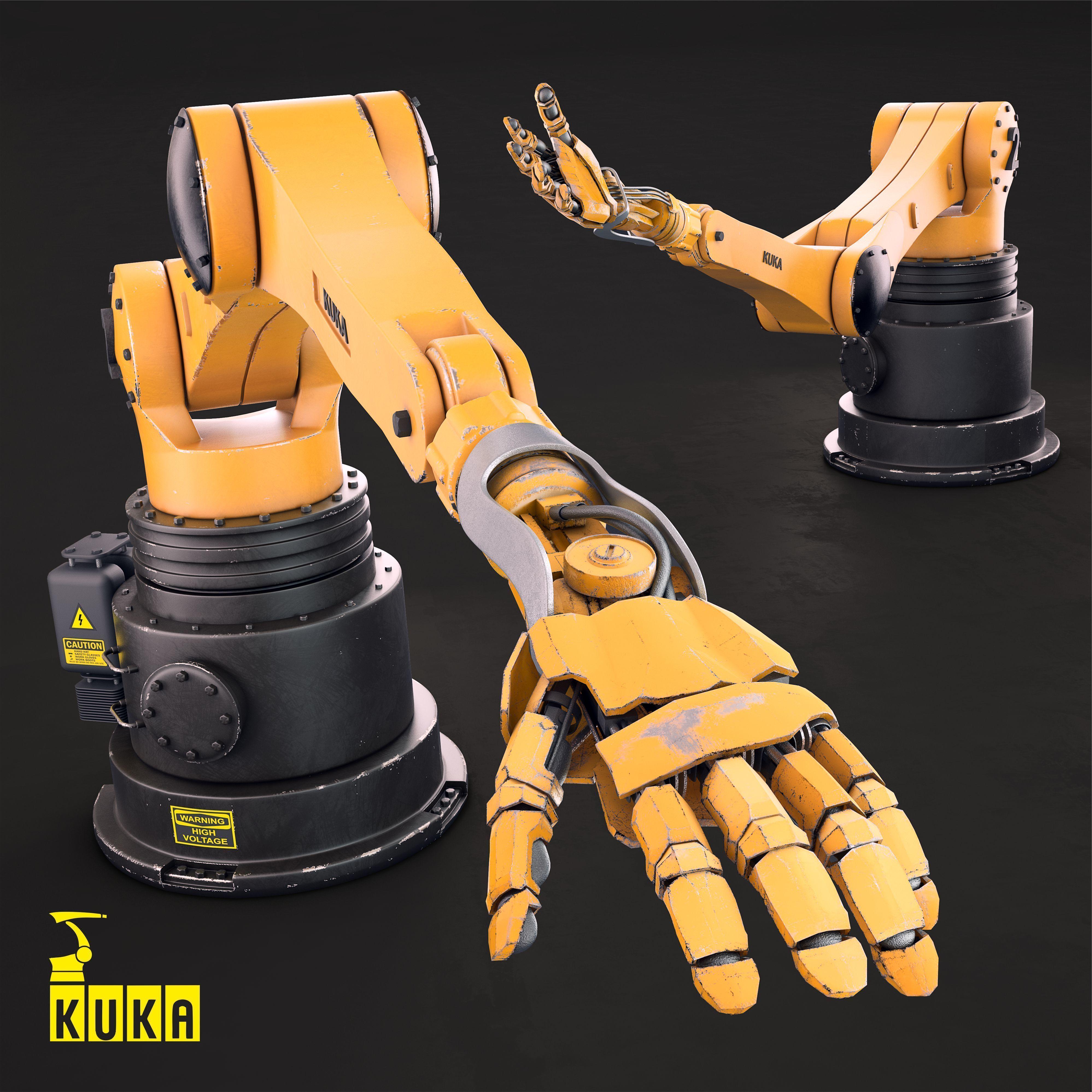 Kuka Hand Robot HW | 3D model