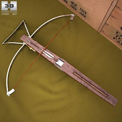 crossbow 3d model max obj mtl 3ds fbx c4d lwo lw lws 1