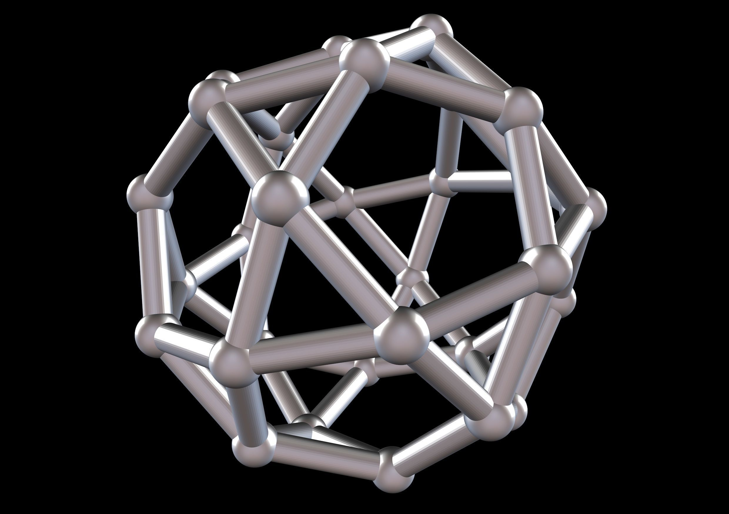 026 Mathart - Archimedean Solids - Icosidodecahedron 02 - 10 cm