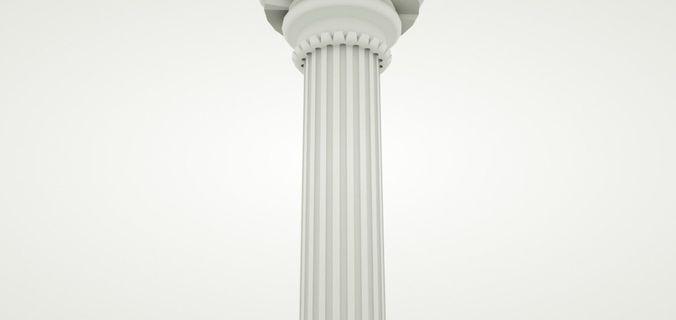 simple classical column 3d model max obj mtl c4d 1