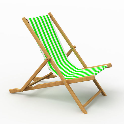 beach chair 4 3d model max obj mtl 3ds fbx 1