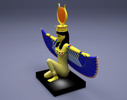 Egyptian Isis With Open Wings 3D