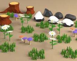 lanscape nature pack 3D asset