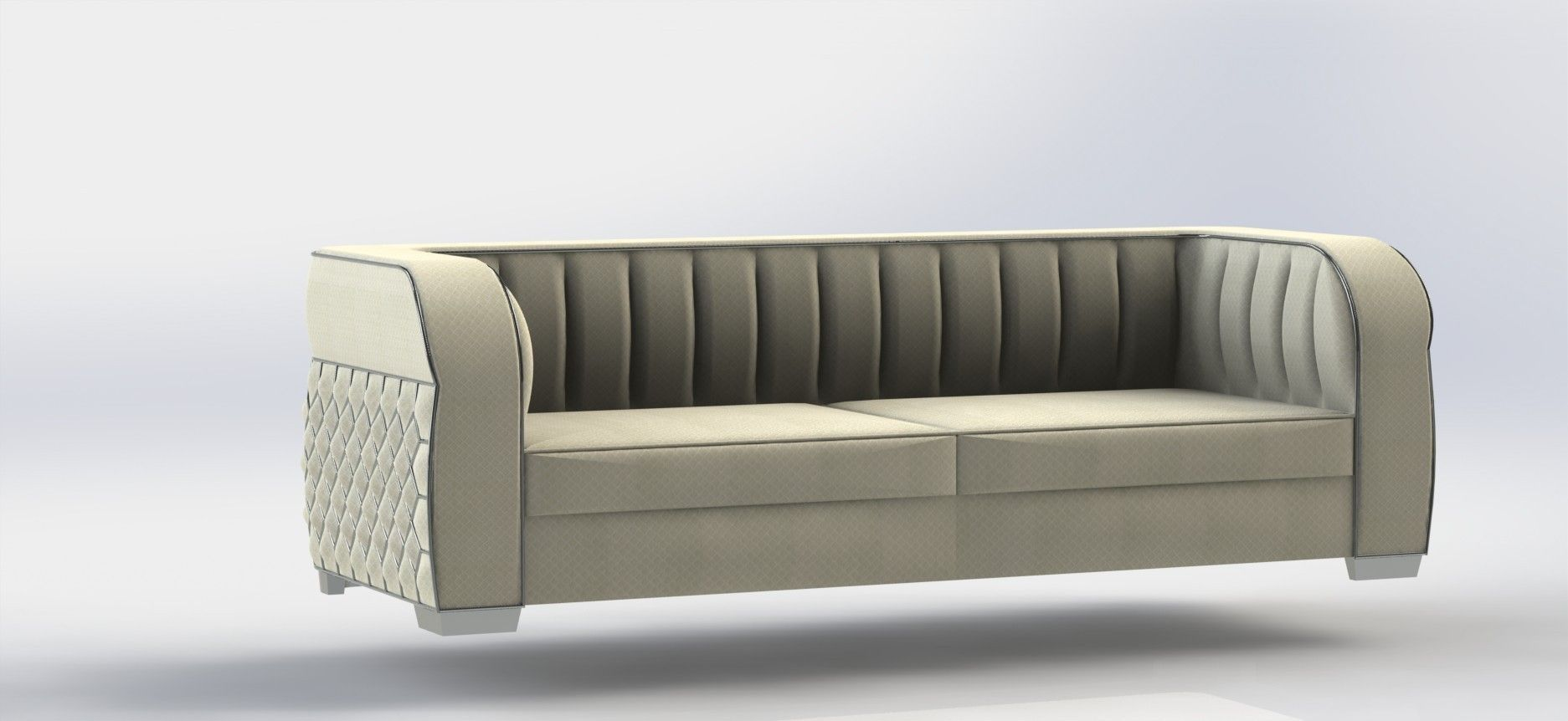 ... Art Deco Sofa 3d Model Stl Dwg Sldprt Sldasm Slddrw Ige Igs Iges 3 ...